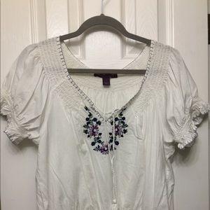 Gloria Vanderbilt cotton peasant top
